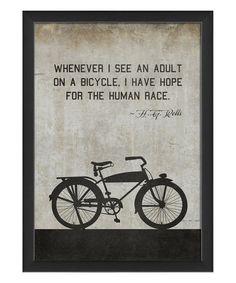 Look at this #zulilyfind! H.G. Wells Bicycle Framed Print #zulilyfinds