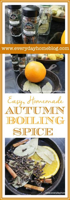 Easy, Homemade Autumn Boiling Spice by The Everyday Home #Fall #AutumnScents #Spice #DIY