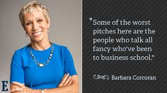 Learn how Shark Tank investors prepares for pitches from small businesses to entrepreneurs. Shark Tank investors shares their experience and success with businesses. Business School, Business Women, Shark Tank Show, Meaningful Quotes, Inspirational Quotes, Motivational, Barbara Corcoran, Your Turn, Creating A Business