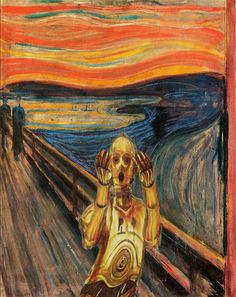 """Star Wars"" Portraits: Edvard Munch, The Scream. C-3PO. (Photo by Dave Hamilton/Caters News)"