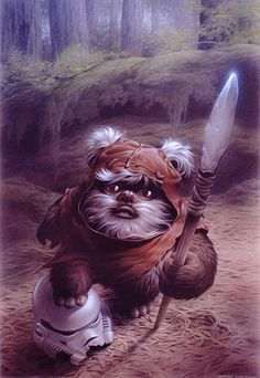 Wicket the Warrior the reason as a little girl to watch Star Wars then fall for - Star Wars Ewok - Ideas of Star Wars Ewok - Wicket the Warrior the reason as a little girl to watch Star Wars then fall for its bad assery before George Lucas goes mad! Star Wars Fan Art, Ewok, Chewbacca, Star Wars Watch, Star Trek, Starwars, Han Shot First, Stormtrooper, Darth Vader