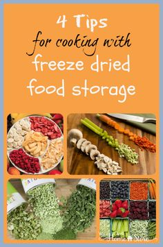 Tips for cooking with Freeze Dried Foods Freeze dried foods are a very smart type of food for long term storage. And they are easy to use. These four tips will get you started.The Four Musketeers The Four Musketeers may refer to: Thrive Food Storage, Dry Food Storage, Long Term Food Storage, Storage Ideas, Prepper Food, Survival Food, Survival Quotes, Camping Survival, Survival List