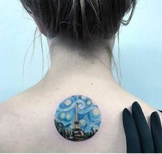 Check out Paris tattoo or other urban back tattoo designs that will blow your mind, tattoo ideas that will be your next inspiration. Van Gogh Tattoo, Detailliertes Tattoo, Tattoo Blog, Bild Tattoos, Cute Tattoos, Small Tattoos, Awesome Tattoos, Paris Tattoo, Bodysuit Tattoos