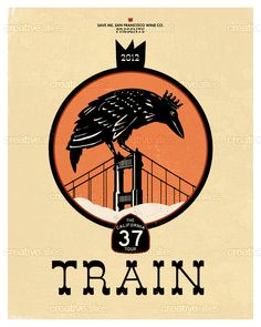 Created by caagaard for the contest to design a tour poster for Train's Caolifornia 37 Tour