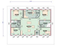 egyszintes családiház alaprajzok - Google keresés Minimal Home, Minimalism, House Plans, Floor Plans, How To Plan, Architecture, Sims 4, Google, Madrid