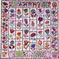 Kim McLean's Flower Garden Quilt