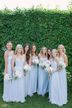 Blue bride tribe working it! Photography: M Three Studio - http://mthreestudio.com/
