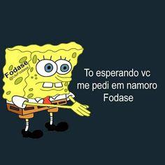 Manda pro Crush kkk '-' Post Pro, Cute Memes, Spongebob Memes, Bart Simpson, Love Of My Life, Sims, Haha, Thoughts, Humor
