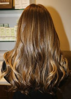 Honey Blonde.  Collecting pictures of caramel and dark honey coloured hair: possibly my next shade.