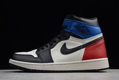 meet 8d45f ede8b Air Jordan 1 Retro High OG Black White-Campus Red 555088-703