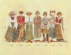 ladies vintage golf   product type print artist debbie crabtree size 18 x 14