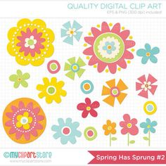 FREE Clipart - Flowers - Spring has Sprung