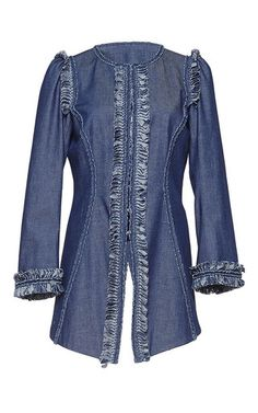 Denim Ruffle Jacket by Andrew Gn