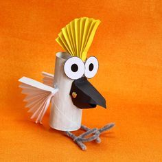 toilet roll Cockatoo / kids Crafts