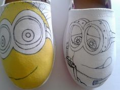 Hand Painted Shoes - Minions