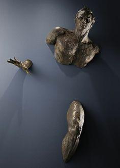Unglaubliche Wand Skulpturen beine hände italienisch