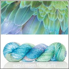 Expression Fiber Arts, Inc. - FEATHER TEXTURE SUPERWASH MERINO SILK PEARLESCENT WORSTED, $30.00 (http://www.expressionfiberarts.com/products/feather-texture-superwash-merino-silk-pearlescent-worsted.html)