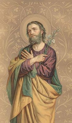 St. Joseph. A beautiful example of masculinity and fatherhood and a personal patron of mine