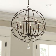 Orb chandelier #kitchen #kitchenlighting