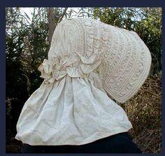 Corded bonnet | Bees in Our Bonnets: A Quick Survey of Women's Headwear of the 1860s civil war era fashion
