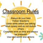 FREEBIE! PDF file of the six essential classroom rules as taught by Rick Morris. They appear on a Sunshine background with matching garden elements by Lette...