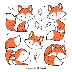 FOX Illustration Print Fox Kunstdruck FOX paar Liebe Illustration Orange Fox Kunstdruck Fox Kindergarten Kunst Woodland Home Decor Fox Wandkunst MiKa Fuchs Illustration, Cute Illustration, Doodle Art, Doodle Drawings, Animal Doodles, Fox Art, Cute Fox, Bullet Journal Inspiration, Easy Drawings