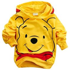 Little Hand Kids Girls Boys Winnie The Pooh Printed Hoodies Jacket ❤ liked on Polyvore featuring kids clothes