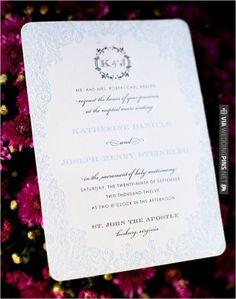 letter press wedding invite | VIA #WEDDINGPINS.NET