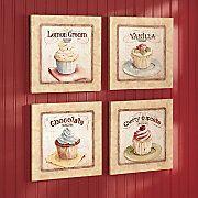 Cupcake wall decor ) Cupcakes make me happy!