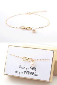 Mutter der Braut Geschenk Gold Infinity Armband von powderandjade