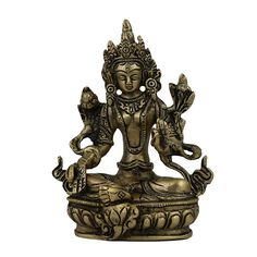 Tara Buddha, Sculpture and Statue in Brass >>> Want to know more, visit the site now : Home Decor Sculptures