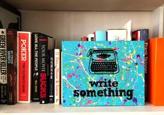 Write Something Canvas Panel Painting by ThatsHighlyOffensive on Etsy https://www.etsy.com/listing/229494599/write-something-canvas-panel-painting