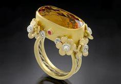 Ring by Agnieszka Winograd. I Love Jewelry, Jewelry Art, Antique Jewelry, Gold Jewelry, Jewelry Rings, Jewelry Accessories, Vintage Jewelry, Fine Jewelry, Jewelry Design