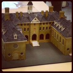 A 1930s model of the Wren Building at the @Aaron Hensen of William & Mary from CW's Collections and Conservation Paper Lab.