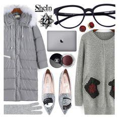 """Shein4"" by pastelneon ❤ liked on Polyvore featuring Harrods, Artecnica, Chanel, Lauren Ralph Lauren, Winter, cute, cozy, grey and shein"