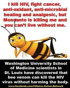 I KILL HIV, FIGHT CANCER, ANTI-OXIDANT, ANTI-MICROBIAL HEALING AND ANALGESIC, BUT MONSANTO IS KILLING ME AND YOU CAN'T LIVE WITHOUT ME.