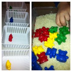 My non-verbal son who has autism is working on this sortin activity. He is doing good!