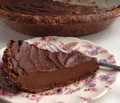 Chocolate Cream Pie in a Hazelnut Crust via @DrKellyann