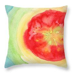 Throw Pillows - Fresh Tomato Throw Pillow by Kathleen Wong
