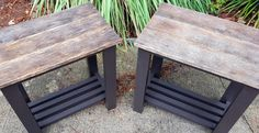 2 handmade end tables side table reclaimed by BeachHouseDreamsHome