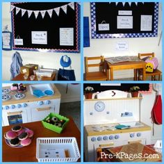 Printable dramatic play kits via   www.pre-kpages.com