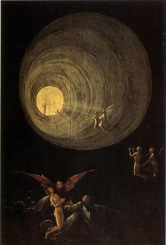 Part of the Ascent of the Blessed by Hieronymus Bosch---he was definitely ahead of his time (early 1500s)!