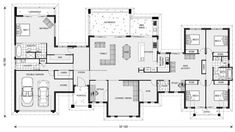 Good farm option G J Gardner Homes. Rochedale 412 dw linen cabinet for bedrooms and master bedrm ensuite idea Dream Home Design, My Dream Home, House Design, Dream House Plans, House Floor Plans, 6 Bedroom House Plans, The Plan, How To Plan, House Plans Australia