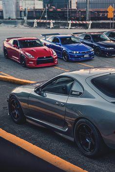 GTR's Toyota Supra Mk4, Toyota Cars, Tuner Cars, Jdm Cars, Cars Auto, Jdm Wallpaper, Gtr R34, Nissan Gtr Skyline, Nissan 350z