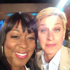 Loni Love and Ellen Degeneres