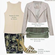 Como usar saia lápis - How to wear pencil skirt