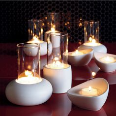 3-piece ceramic candleholder set in all gifts | CB2
