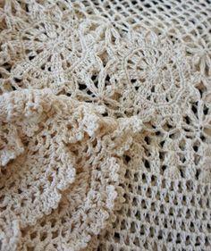 Blusa branca de crochê - passo a passo