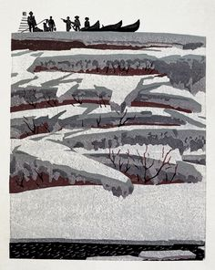 A woodcut by Hao Boyi from 1982. He is working in the Great Wilderness tradition here.    ladfish.com