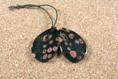 Poppy Jasper Earring Pair  Smooth Teardrop Red and by ABOSBeads